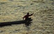 Fisherman working at dawn