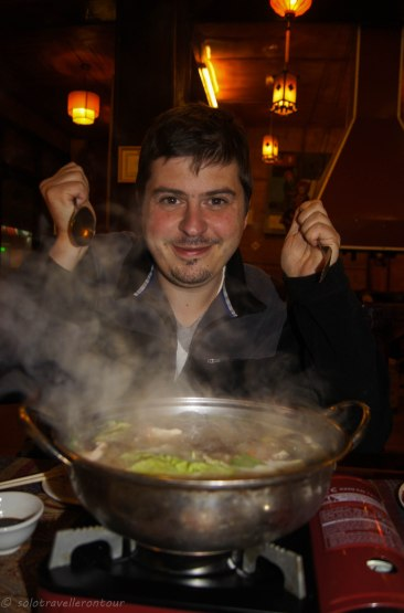 Getting ready to eat the lovely hotpot