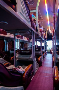 Seat arrangement in a nightbus
