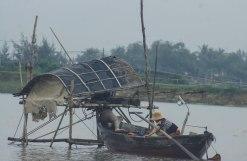 Preparing the massive fishing nets