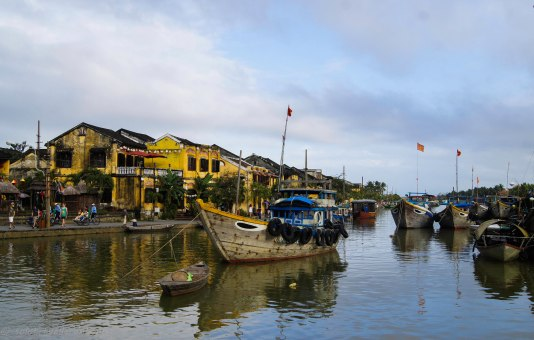 Hoi An from the tourist bridge - a great view