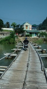 Local bamboo bridge