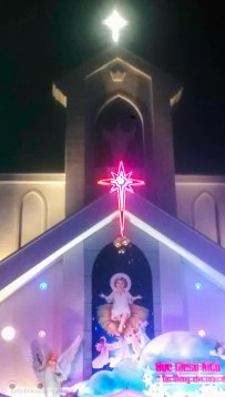 The Vietnamese love bright lights - even for church