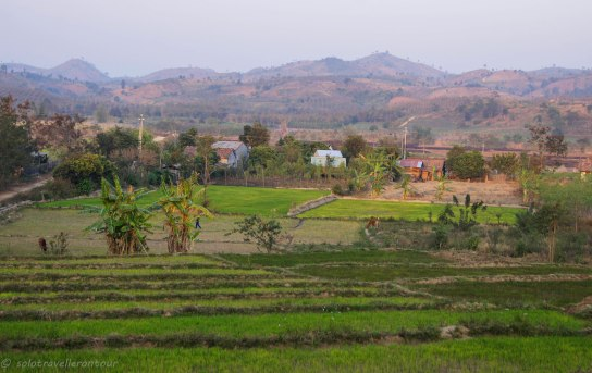 Nice scenery between Kon Tum and the minority village