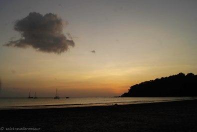 Sunset at Aow Yai beach