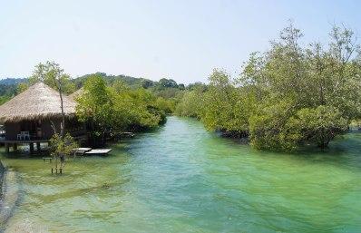 Little stream passing the luxurious resort next to Sabai Sabai