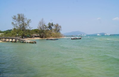The old pier near the bungalows