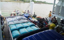 Ferry to cross the Mekong