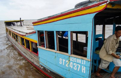 """The """"ferry"""" to cross the Mekong"""