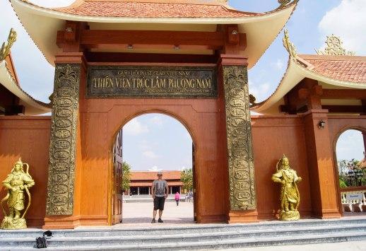 Outside Thien Vien Truc Lam Pagoda