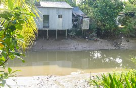 The little canal next to the homestay