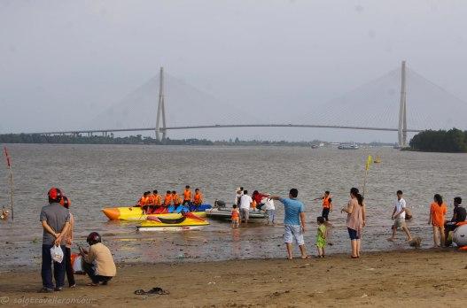 The Mekong beach