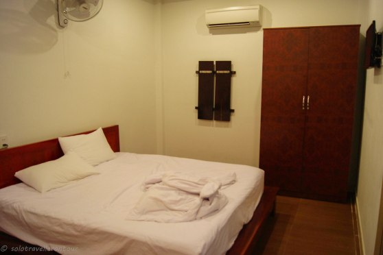 Spacious double bedroom of the bungalow