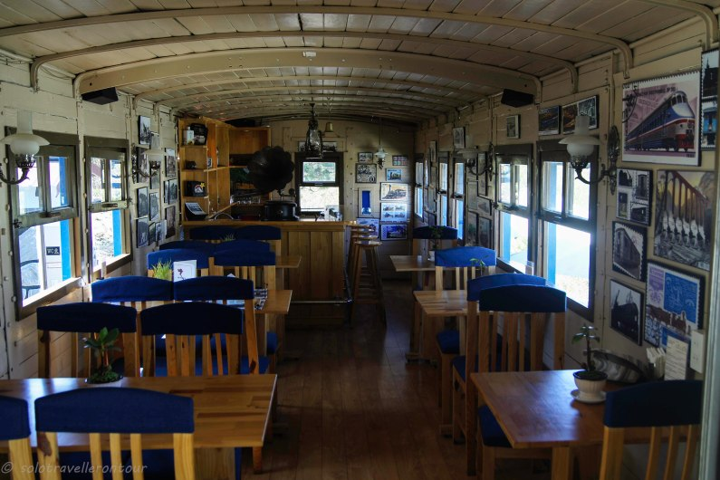 The breakfast room of hte train village