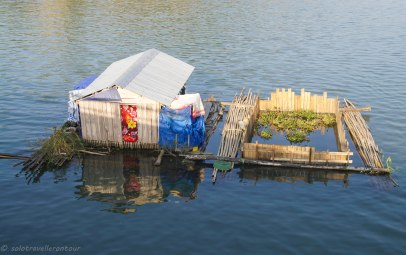 Floating house with inbuild fish farm
