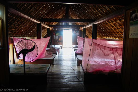 Sleeping section of the traditional longhouse