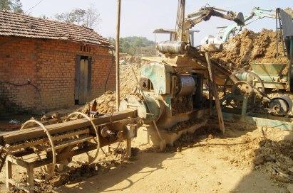 Brick production machine