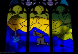 One of the simple but beautiful windows of the Wooden Church