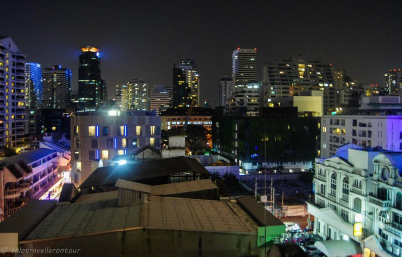 Bangkok by night- view from my room
