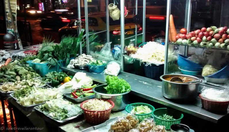 Typical street food stall in Bangkok