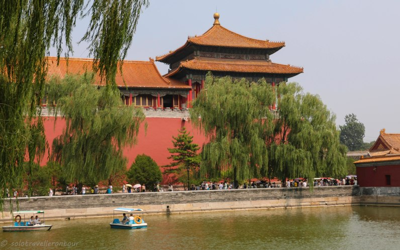 The lake outside the walls of the Forbidden City