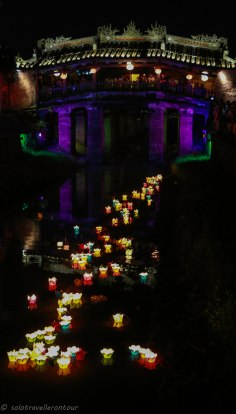 The Japanese bridge during the lantern festival