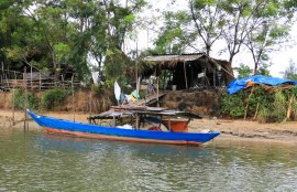 Exploring the area near Hoi An by boat is a lovely way
