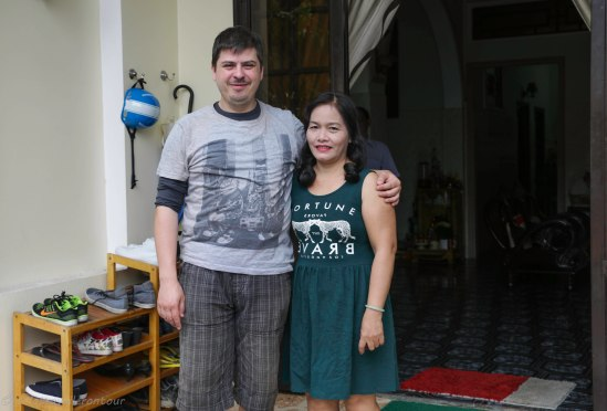 A last photo with Nhung - the owner of the homestay