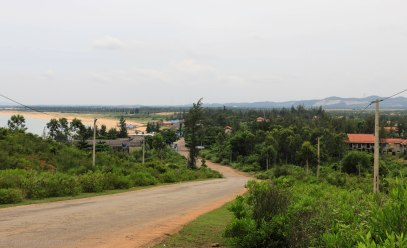Typical view on the way to Quang Ngai