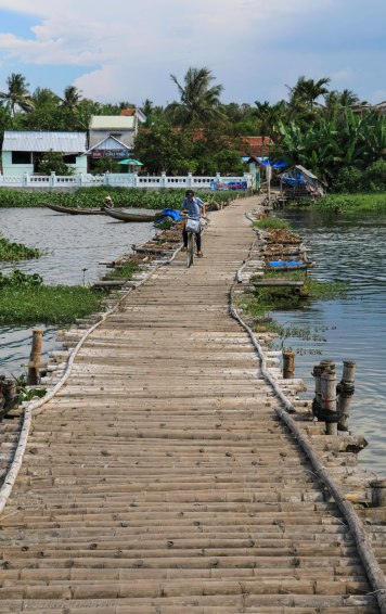 A typical bamboo bridge you see often in rural Vietnam