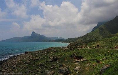Wild coast of the island