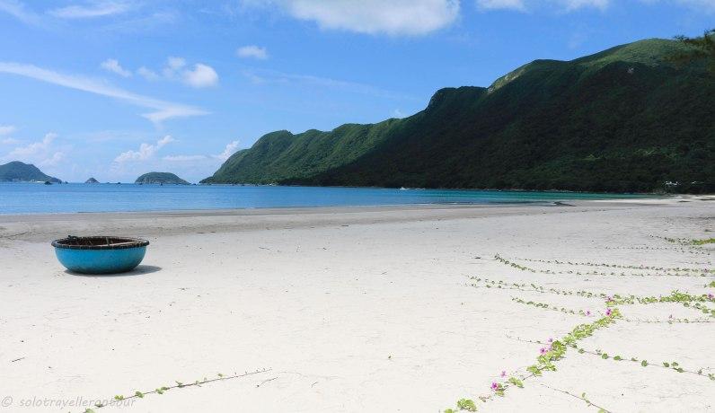 Remote beach on Con Dao