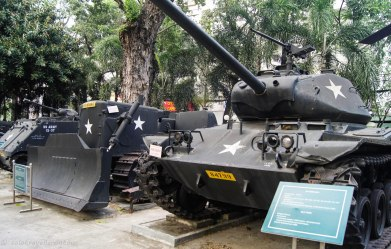 The captured US tanks and other vehicles