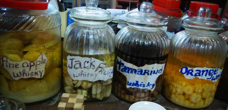 Different Lao Whisky flavours