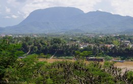 View towards Luang Prabang across the Mekong