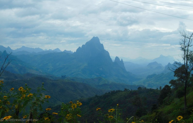 Scenery between Luang Prabang and Vang Vieng