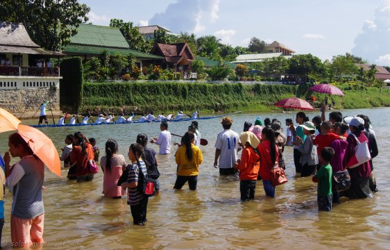 Boat race in Vang Vieng is a big thing for the locals