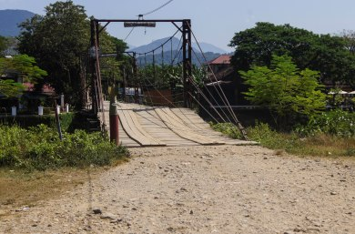 Main bridge in Vang Vieng