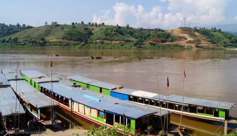 Boat landing in Huay Xai