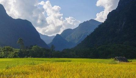 Valley near the minority village