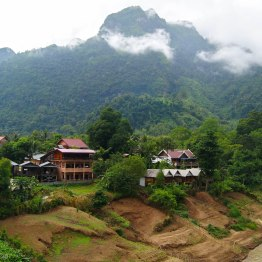 "The ""tourist"" side of Nong Khiaw"