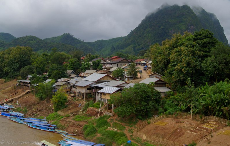 View of the non-touristy part of Nong Khiaw