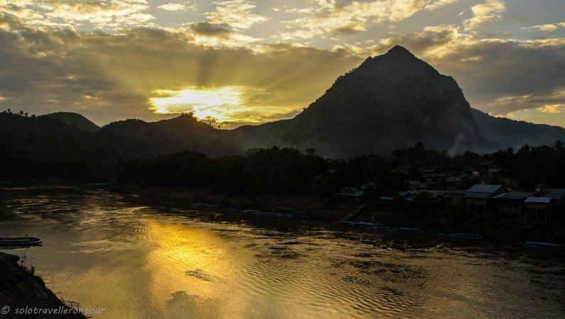 Sunset over Nong Khiaw