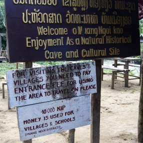 Official entrance to the caves and villages