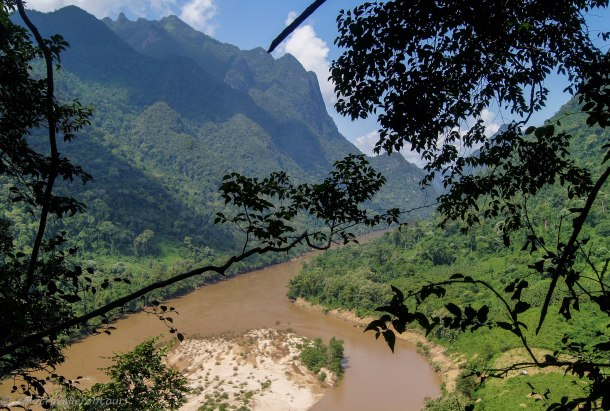 The view over the Mekong close to the top