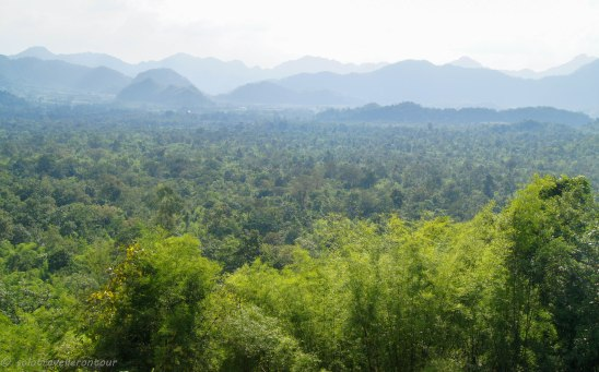 View over the beautiful surrounding area - you can even see Myanmar