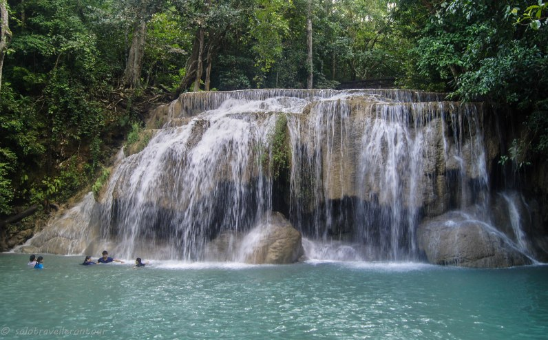 The Erawan fall - or one of the 7 teirs