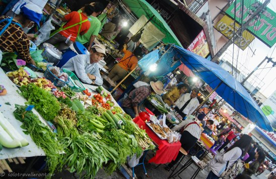 The market offering great food
