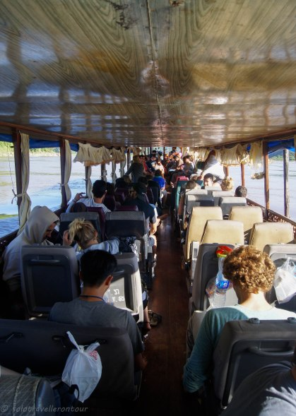 Inside of the smaller boat