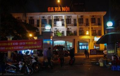 Side entrance of Hanoi train station